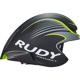 Rudy Project Wing57 Kask rowerowy, black-yellow fluo matte